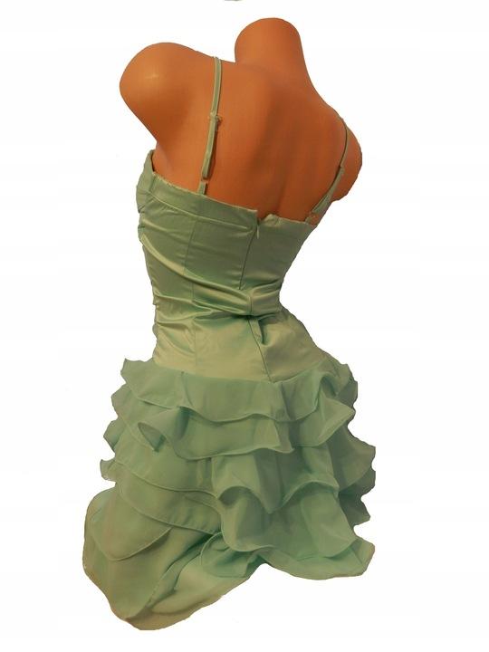 Zielona, morska sukienka letnia, wieczorowa 34/36 8474438265 Odzież Damska Sukienki wieczorowe IV WXHJIV-9