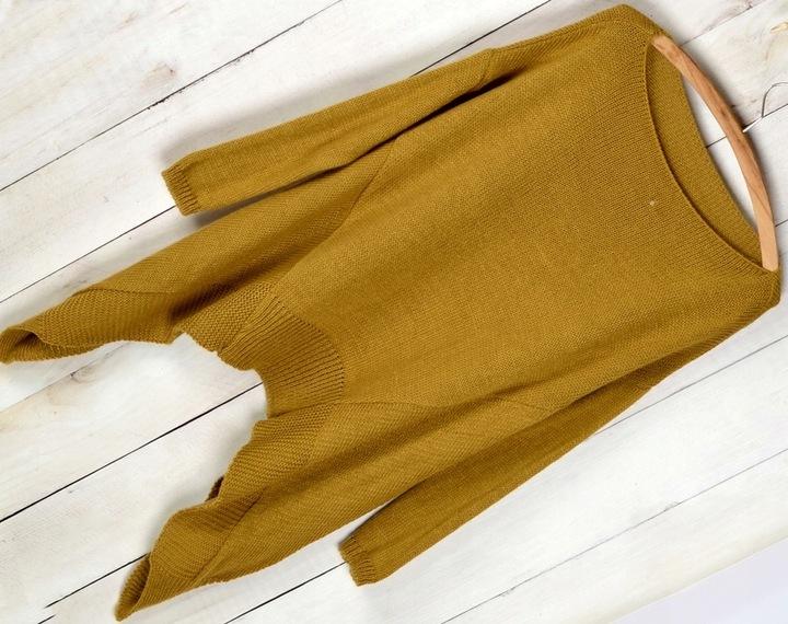 905 CIEPŁA TUNIKA SWETER ASYMETRYCZNY 5 kolorÓw 7609223599 Odzież Damska Swetry CZ FZTECZ-9